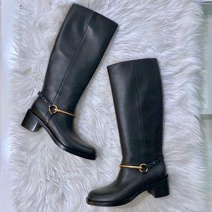 Gucci Tess Horsebit Riding Boot Tall 38.5